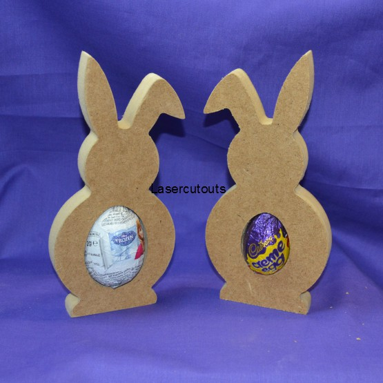 18mm thick freestanding wooden mdf blank bunny shape easter egg 18mm thick freestanding wooden mdf blank bunny shape easter egg holder ebay negle Images