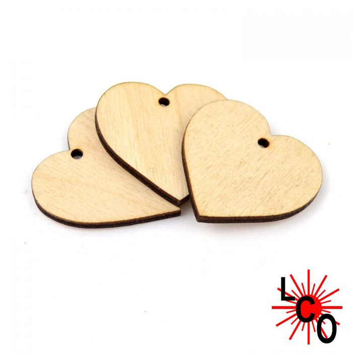 Crafting Wedding Lasercut Wooden Heart Shape with hanging hole MDF Blank